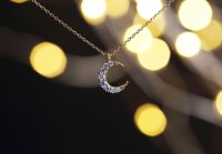 【14KGF】Necklace,Crescent Moon