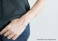 【14KGF】Hammered Open Wire Bangle