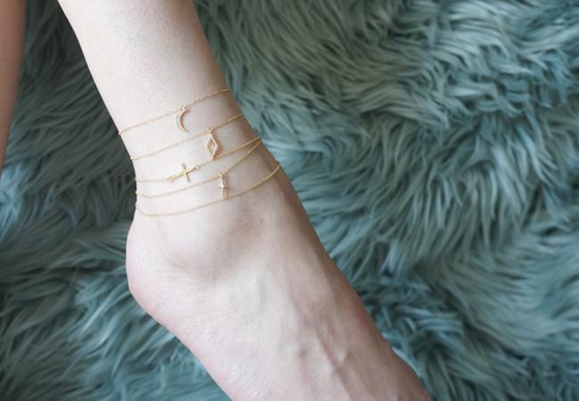 画像1: 【14KGF】Single Chain Danity Anklet/Bracelet