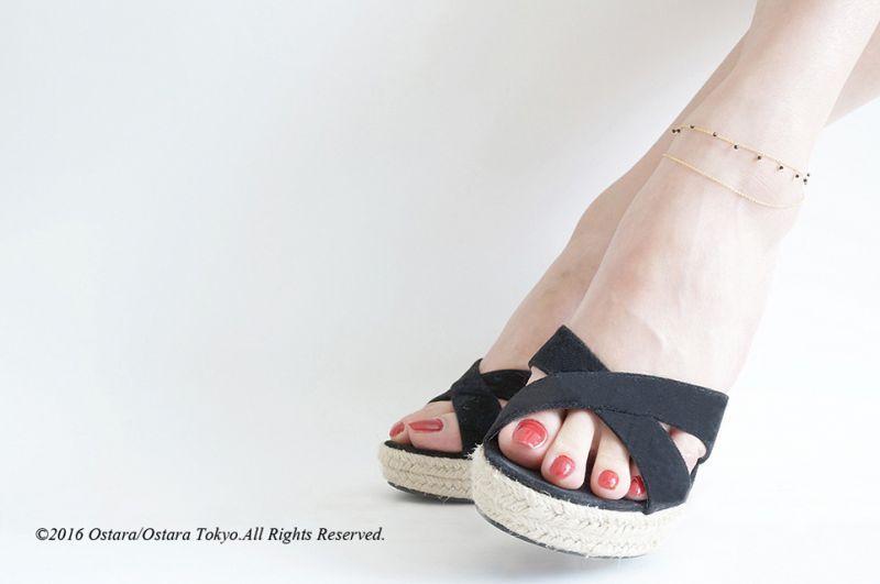 画像1: 【Monica】14KGF, Swarovski Layered Anklet