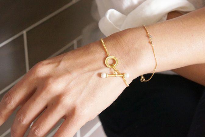 画像1: 【Sterling silver 925 】Antique Pearl Bracelet