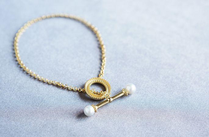 画像2: 【Sterling silver 925 】Antique Pearl Bracelet