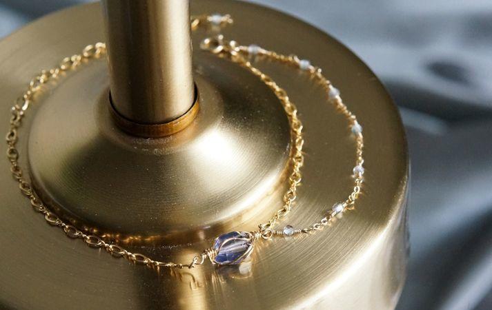 画像5: 【14KGF】Iolite & Mystic Topaz Layered Bracelet