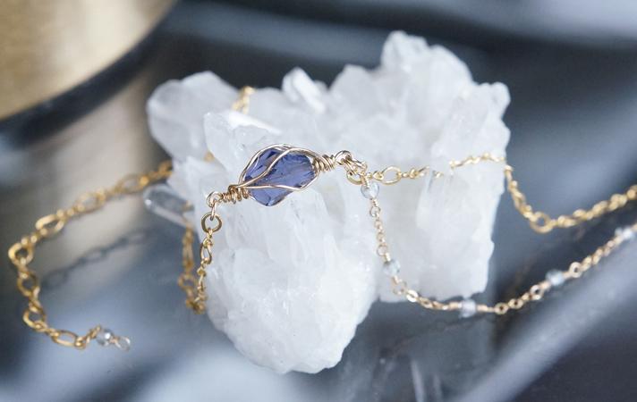 画像3: 【14KGF】Iolite & Mystic Topaz Layered Bracelet