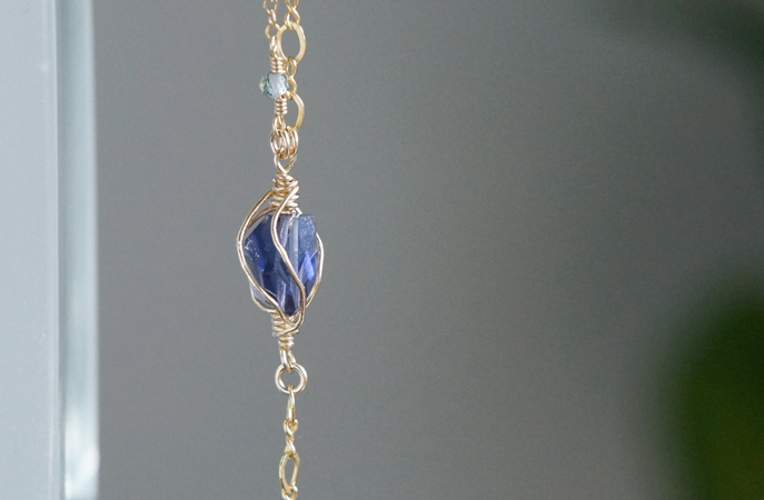 画像4: 【14KGF】Iolite & Mystic Topaz Layered Bracelet