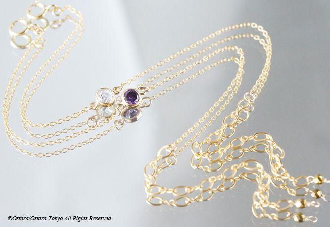 画像2: 【14KGF】Bracelet -14KGF Amethyst/Crystal-