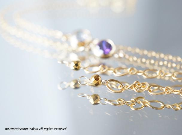 画像4: 【14KGF】Bracelet -14KGF Amethyst/Crystal-