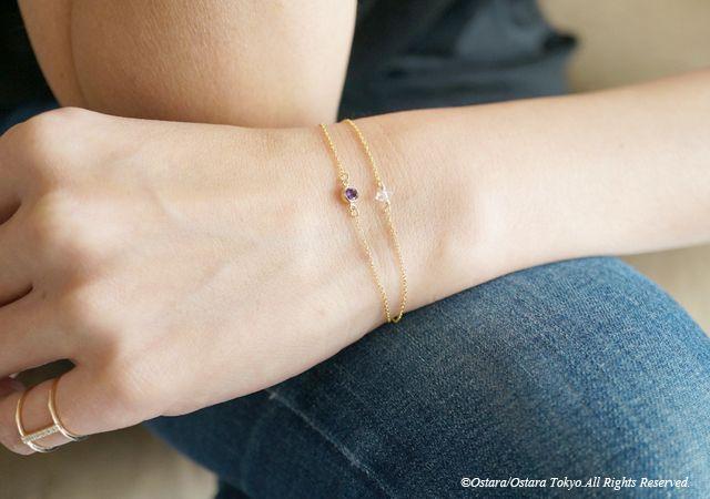 画像3: 【14KGF】Bracelet -14KGF Amethyst/Crystal-