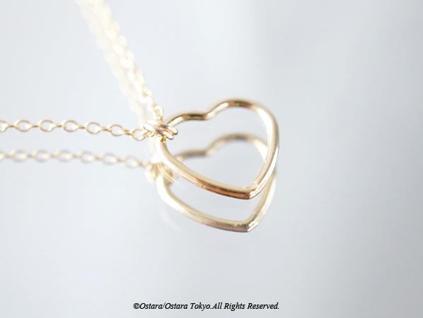 画像1: 【14KGF】Bracelet, -14KGF Open Heart(S)-