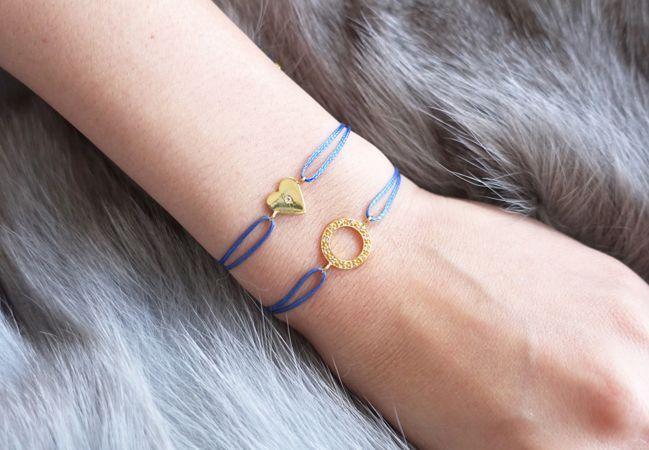 画像5: 【Silver925】White Topaz Adjustable Code Bracelet-Heart-