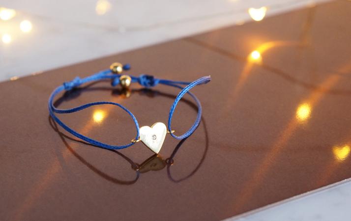 画像2: 【Silver925】White Topaz Adjustable Code Bracelet-Heart-