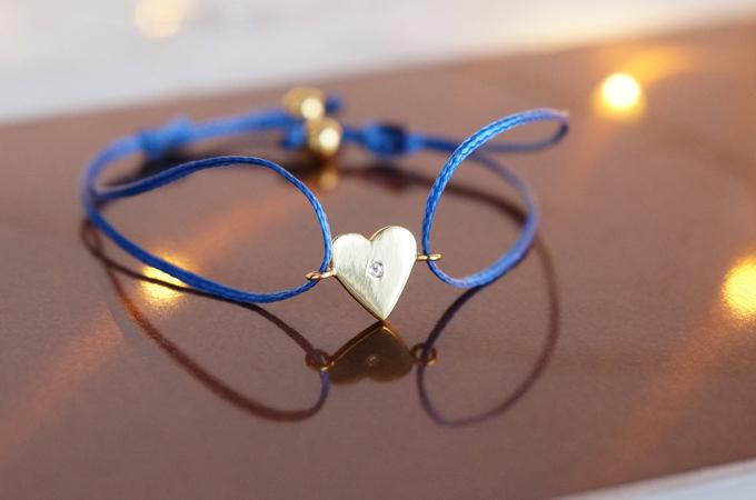 画像1: 【Silver925】White Topaz Adjustable Code Bracelet-Heart-