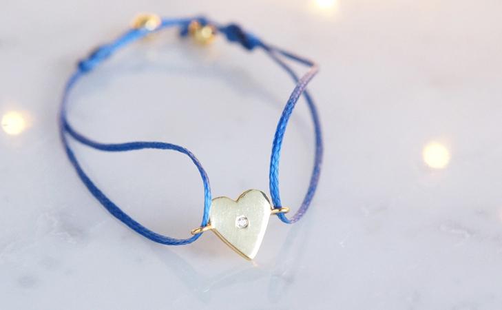 画像3: 【Silver925】White Topaz Adjustable Code Bracelet-Heart-