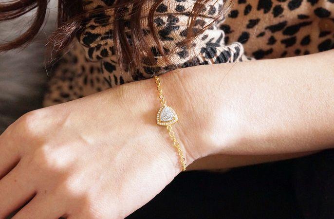 画像5: 【14KGF】Silver Druzy CZ PAVE,Figaro Chain Bracelet