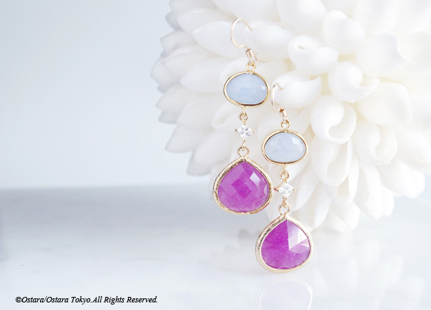 画像1:  【Procida】14KGF Earrings(Purple x Powder Blue)