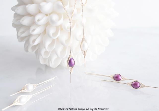 """画像5: 【Tsubomi】14KGF Earrings-B-""""Purple Pearl"""""""