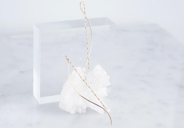 画像3:  【Minimalism】14KGF Earrings,Spiral -A-