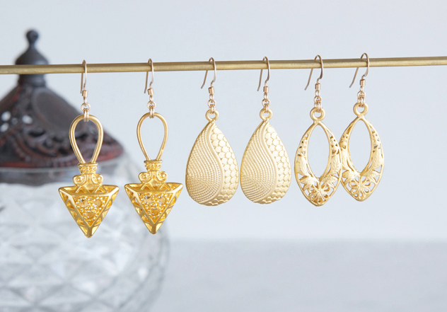 画像4: 【Istanbul】 14KGF Earrings,Matt Gold Filigree -002-