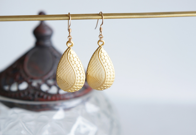 画像2: 【Istanbul】 14KGF Matt Gold Earrings,-Yin Yang-