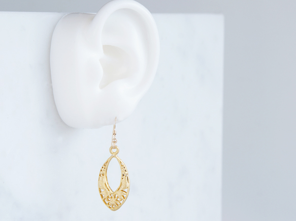 画像3: 【Istanbul】 14KGF Earrings,Matt Gold Filigree -002-