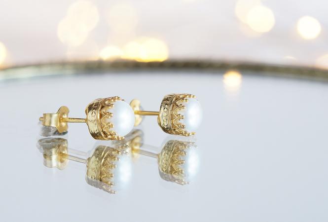 画像2: 【Silver925】Genuine Pearl  Stud Earrings