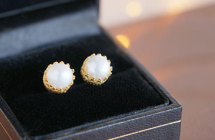 画像4: 【Silver925】Genuine Pearl  Stud Earrings