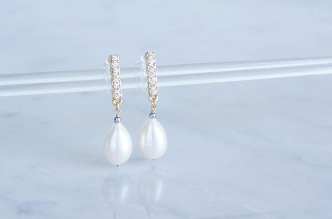 画像3: Genuine Freshwater Pearl,Non Pierced Earrings [ノンホールピアス]