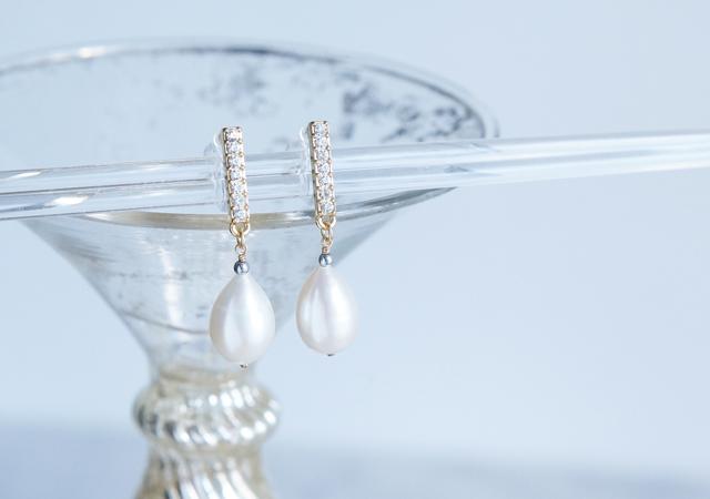 画像1: Genuine Freshwater Pearl,Non Pierced Earrings [ノンホールピアス]