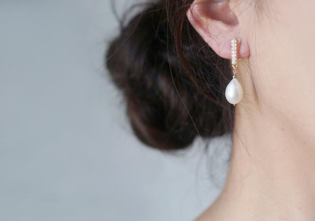 画像5: Genuine Freshwater Pearl,Non Pierced Earrings [ノンホールピアス]