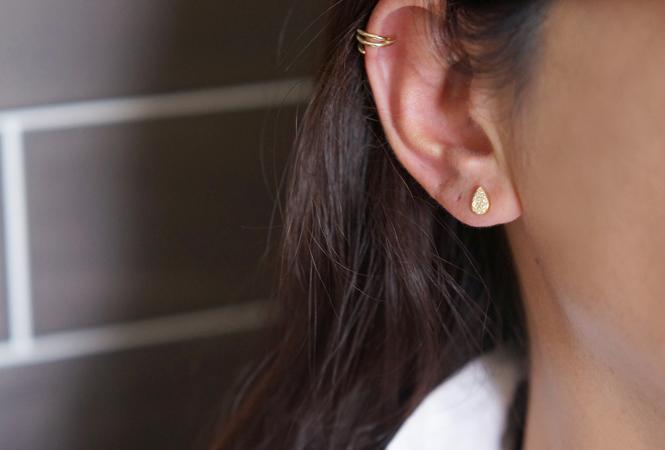画像4: 【Sterling silver 925】2way Ear Jacket Teardrop Earrings