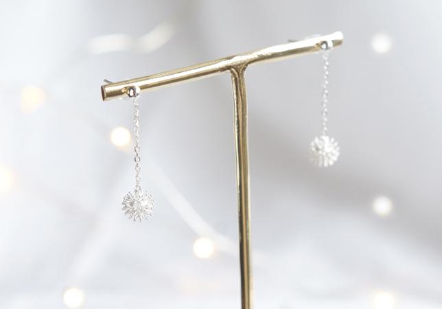 画像1: 【Sterling silver 925】 Sparklers ,Snowflake Stud Earrings
