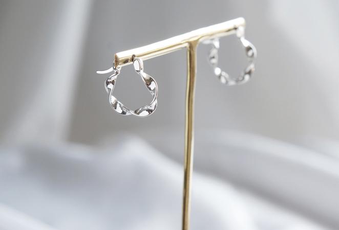 画像4: 【Sterling silver 925】Twisted  Hoop Earrings