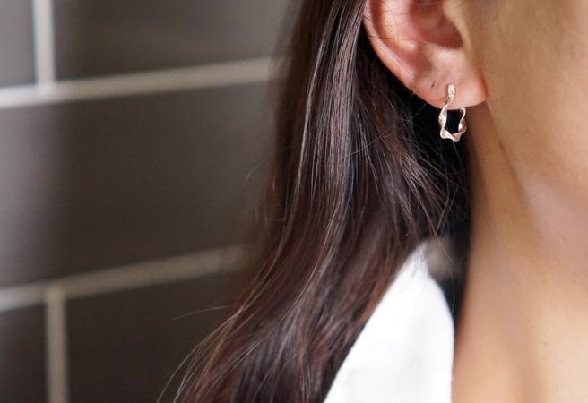 画像5: 【Sterling silver 925】Twisted  Hoop Earrings