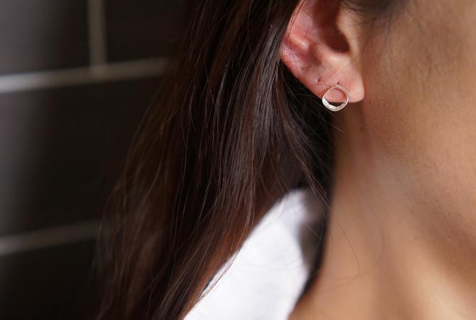 画像5: 【Sterling silver 925】 Rhombus CZ Stud Earrings