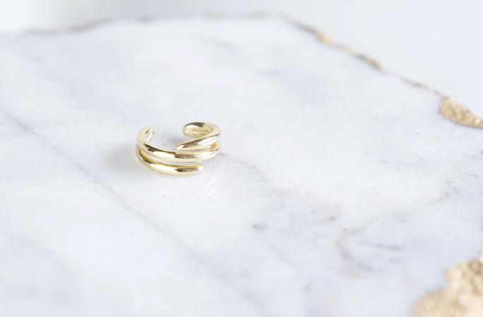 画像1: 【Sterling silver 925】Simple Gold Hoop Ear Cuff