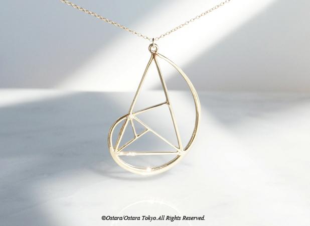 画像1: 【Geo】14KGF Long Necklace,Golden Ratio,Fibonacci