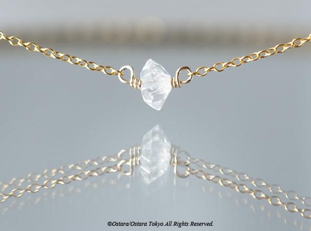 画像1: 【14KGF】Necklace-Gemstone,Dream Crystal, NY Herkimerdiamond-