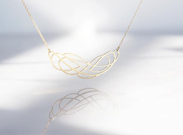 画像1: 【Israel】14KGF Necklace,Abstract-002-
