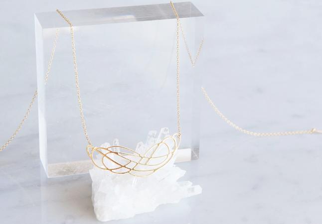 画像3: 【Israel】14KGF Necklace,Abstract-002-