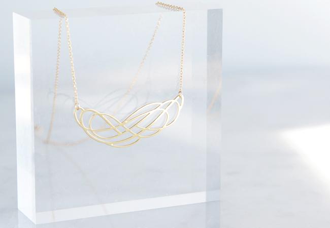 画像2: 【Israel】14KGF Necklace,Abstract-002-