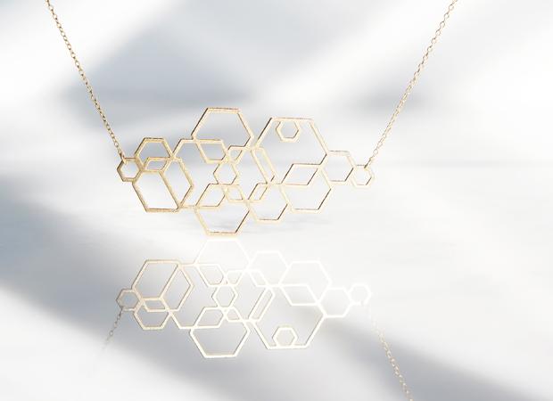 画像1: 【Israel】14KGF Necklace,Abstract-003-