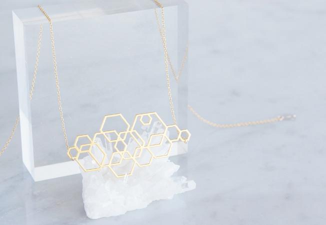 画像3: 【Israel】14KGF Necklace,Abstract-003-