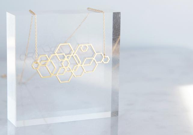 画像2: 【Israel】14KGF Necklace,Abstract-003-
