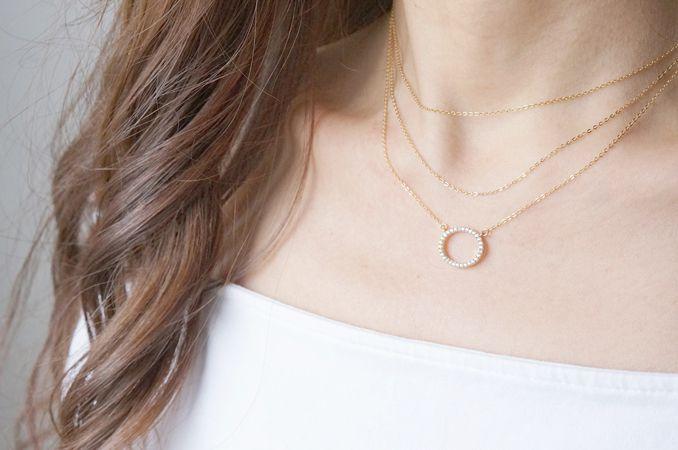 画像4: 【14KGF】Necklace, Circle CZ