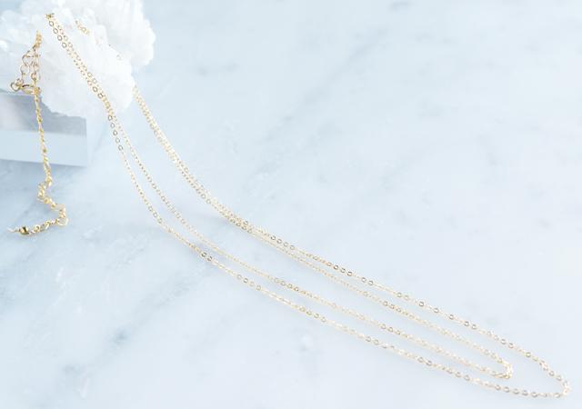画像1: 【14KGF】Layered Dress Necklace