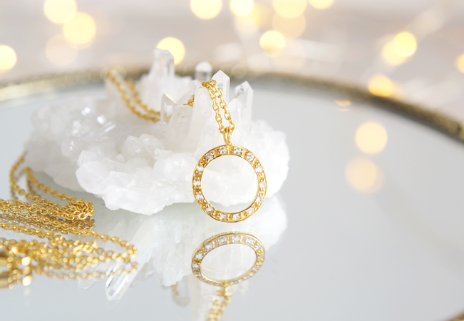 画像1: 【Silver925】White Topaz Ring Necklace