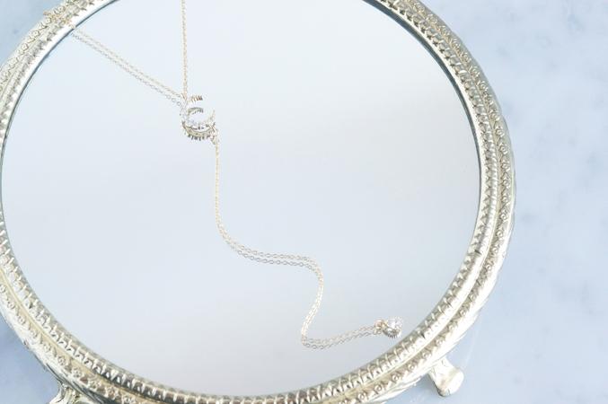 画像3: 【14KGF】Simple Crescent Moon CZ Y-Necklace