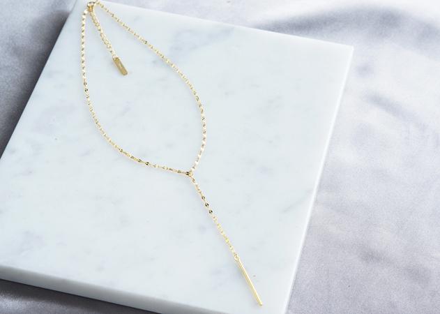 画像4: 【Sterling silver 925】Sparkly Gold  Chain, Long Bar Necklace