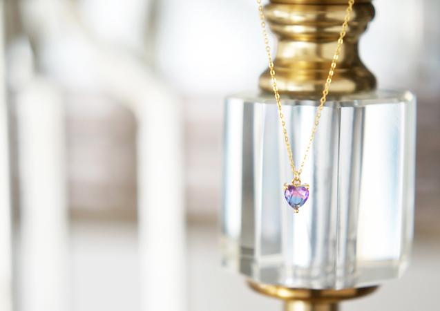 画像1: 【14KGF】Aurora Heart Necklace