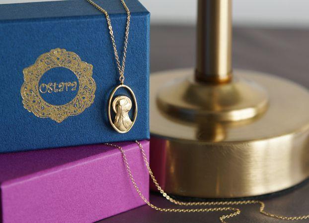 画像1: 【14KGF】Virgin Mary  Long Necklace